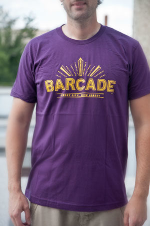 Barcade® Jersey City Men's Purple T-Shirt