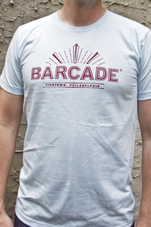 Barcade Fishtown Philadelphia Light Blue T-Shirt