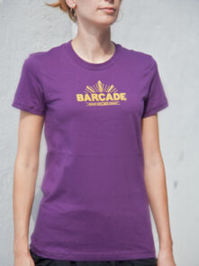 Barcade® Jersey City Women's Purple T-Shirt