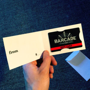 Barcade Gift Card Holder - Inside