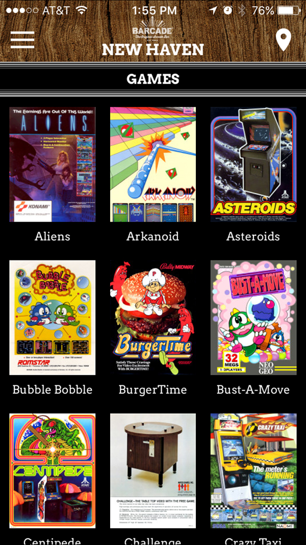 Barcade® App iOS + Android Screenshot
