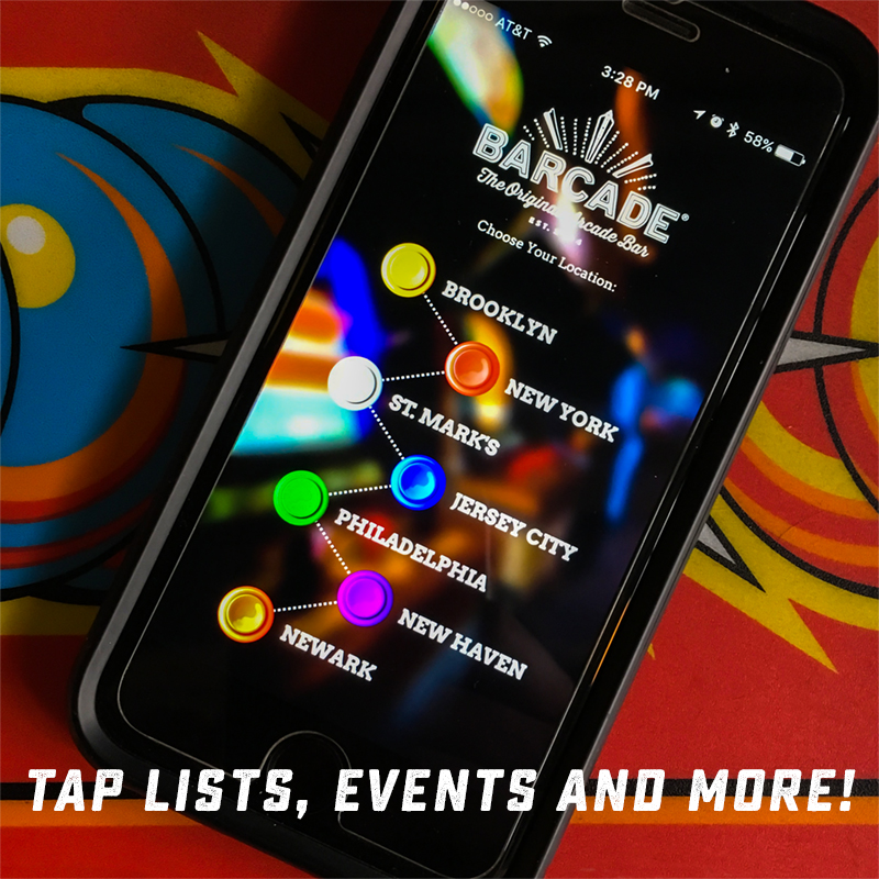 Barcade® App available at the Apple App Store & Google Play