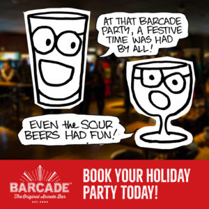 Book Your Holiday Party At Barcade®