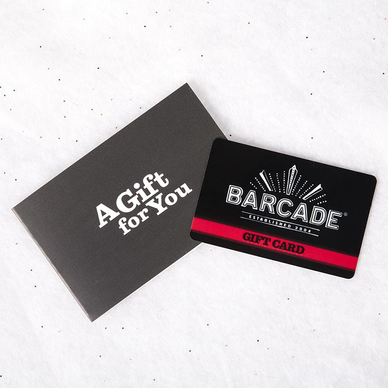 Barcade® Gift Card - For use at all Barcade® locations