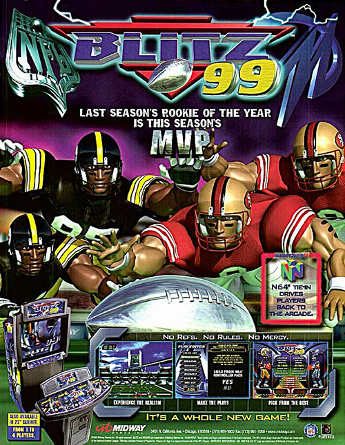 NFLBlitz '99 — 1999 at Barcade®