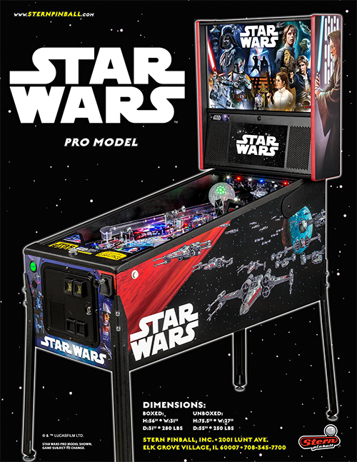 Star Wars (pinball) — 2017 at Barcade®