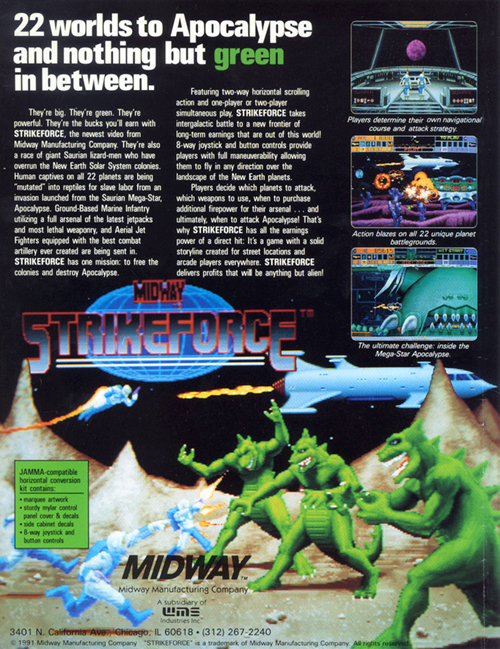 Strike Force — 1991 | arcade video game