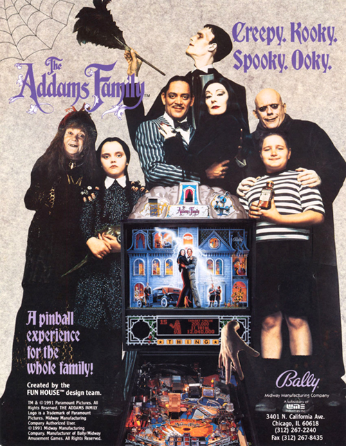 The Addams Family (pinball) — 1992 at Barcade®