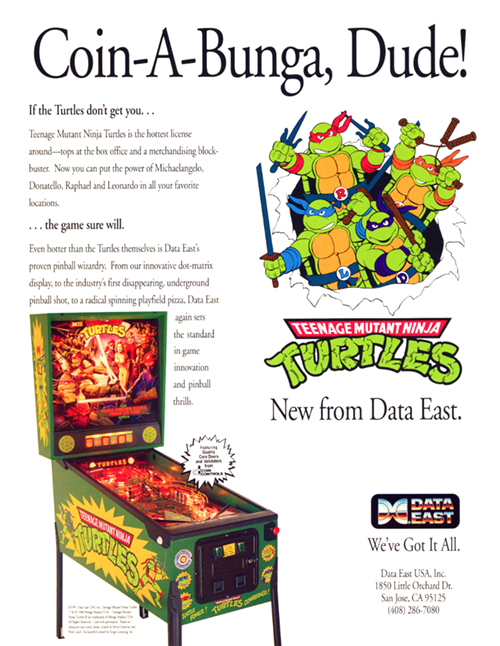 Teenage Mutant Ninja Turtles (pinball) — 1991 at Barcade®