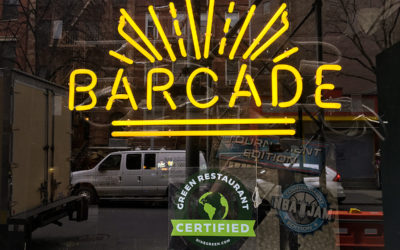 Barcade Achieves 3 Star Rating From Green Restaurant Association