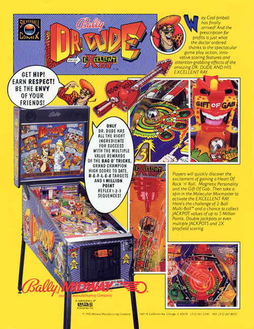 Dr. Dude And His Excellent Ray (pinball) — 1990 at Barcade®