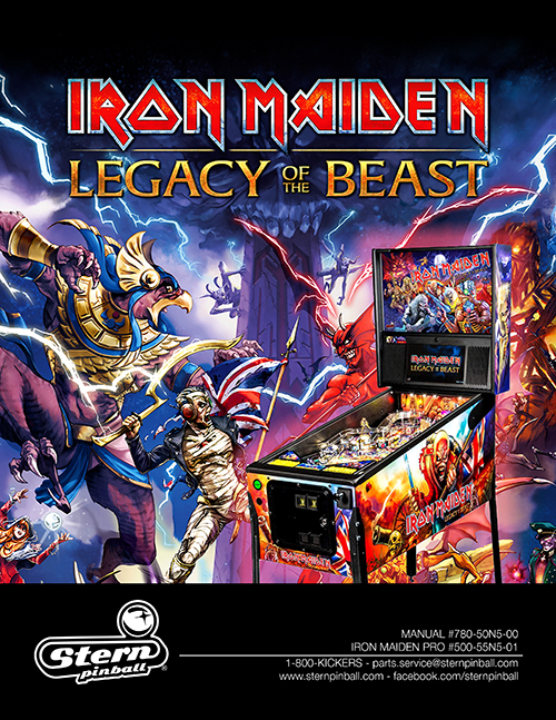 Iron Maiden: The Legacy of the Beast (pinball) — 2018 at Barcade®