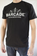 Barcade® Los Angeles - Men's Black T-Shirt with White Logo