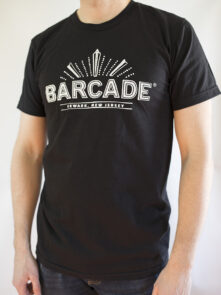 Barcade® Newark - Men's Black T-Shirt with White Logo