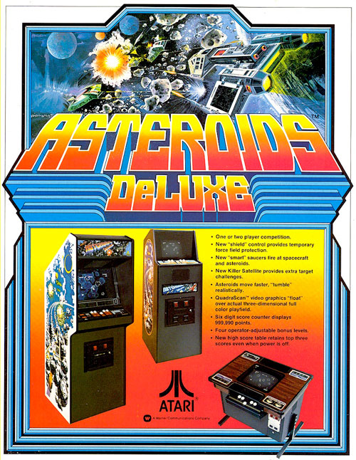 Asteroids Deluxe — 1981 at Barcade® | The Original Arcade Bar