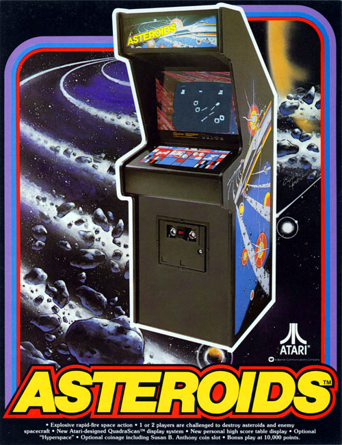 Asteroids — 1979 at Barcade® | The Original Arcade Bar