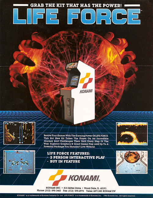 Life Force — 1986 at Barcade® | The Original Arcade Bar