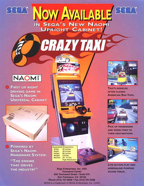 Crazy Taxi — 1999 at Barcade®