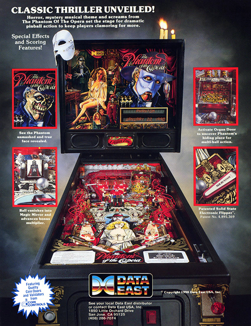 The Phantom of the Opera (pinball) — 1990 at Barcade®