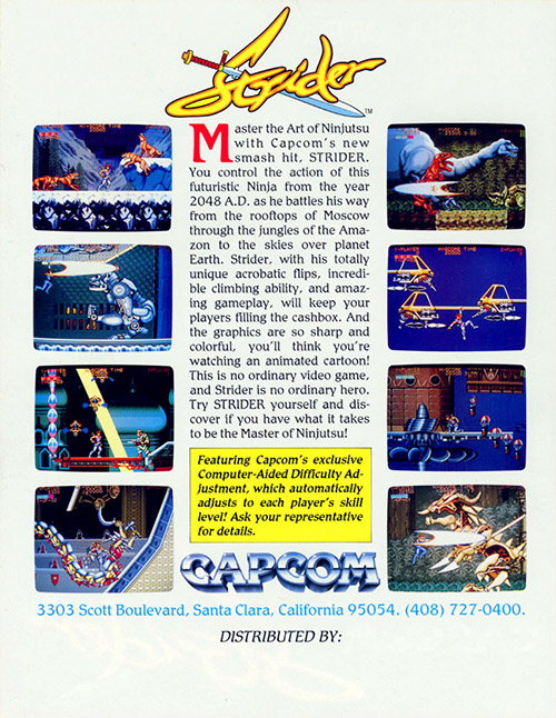 Strider — 1989 at Barcade®