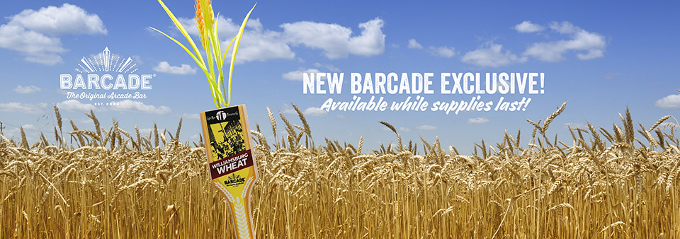 Cape Ann Williamsburg Wheat - Barcade® Exclusive Beer available at all Barcade Locations while supplies last