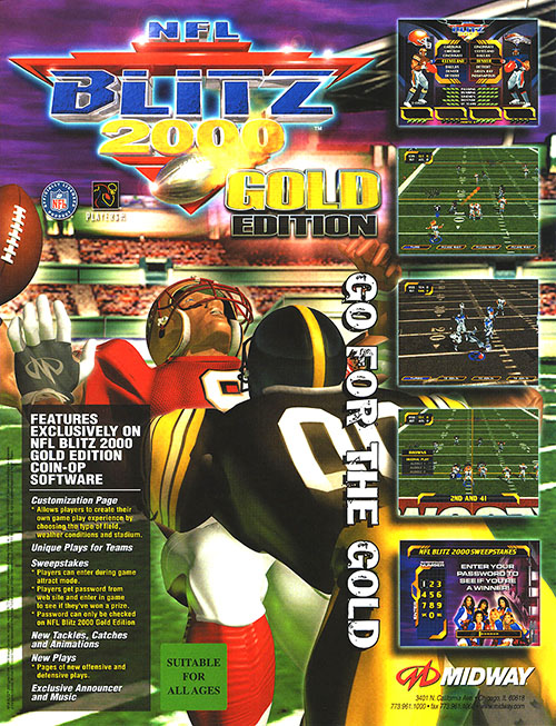 NFL Blitz 2000 GoldEdition — 1999 at Barcade®