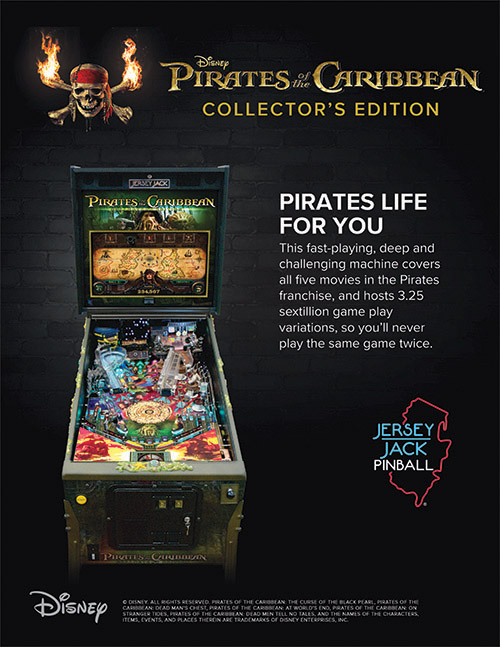 Pirates of the Caribbean (pinball) — 2018 at Barcade®