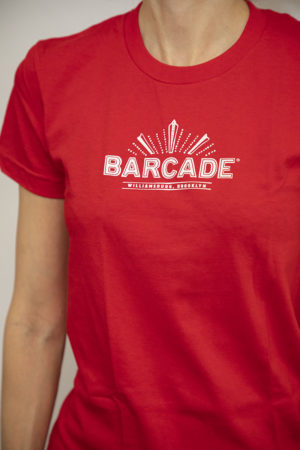 Barcade® Brooklyn Women's Red T-Shirt