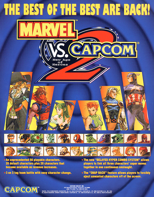Marvel Vs. Capcom 2: New Age Of Heroes — 2000 at Barcade®