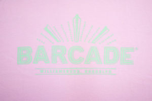 Barcade® Brooklyn Pink T-Shirt with Light Green Logo