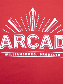 Barcade® Brooklyn Red T-Shirt with White Logo
