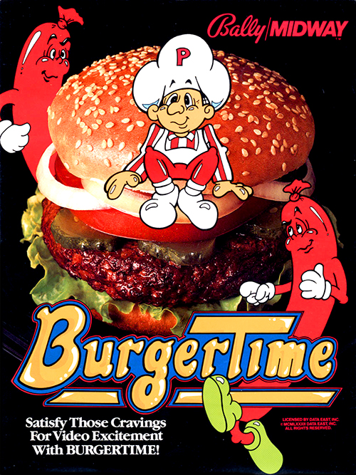 BurgerTime — 1982 at Barcade® at Barcade® | arcade game flyer graphic