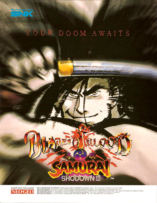 Samurai Shodown III: Blades of Blood — 1996 at Barcade®
