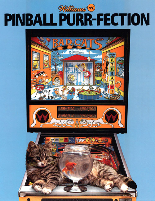 Bad Cats (pinball) — 1989 at Barcade®