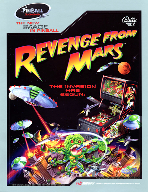 Revenge From Mars (pinball) — 1999 at Barcade®