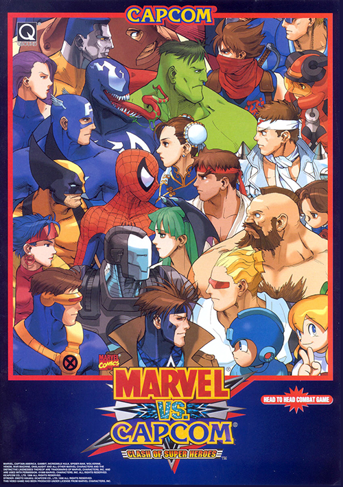 Marvel Vs. Capcom: Clash of Super Heroes — 1998 at Barcade® | arcade game flyer graphic
