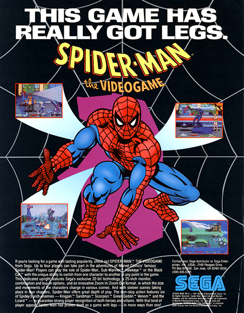 Spider-Man — 1991 at Barcade® | arcade game flyer graphic