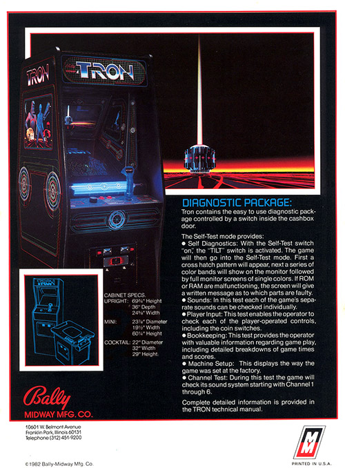 Tron — 1982 at Barcade® | arcade game flyer graphic 2