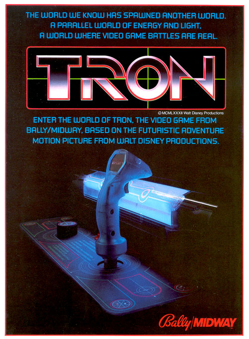 Tron — 1982 at Barcade® | arcade game flyer graphic