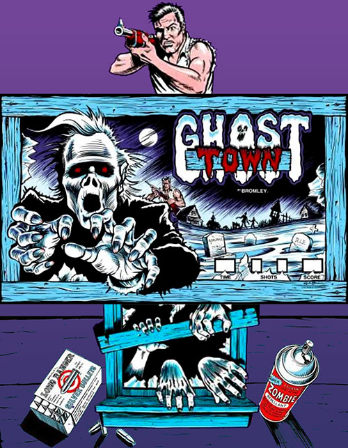 Ghost Town — 1980 at Barcade® | arcade flyer graphic