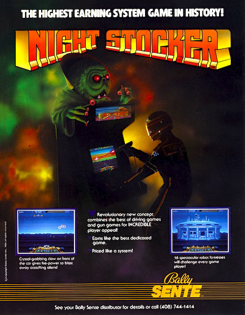 Night Stocker — 1986 at Barcade® | arcade game flyer graphic