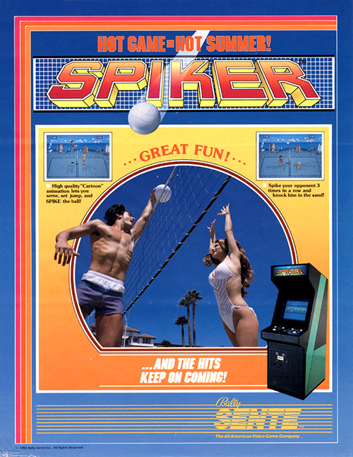 Spiker — 1986 at Barcade® | arcade game flyer graphic