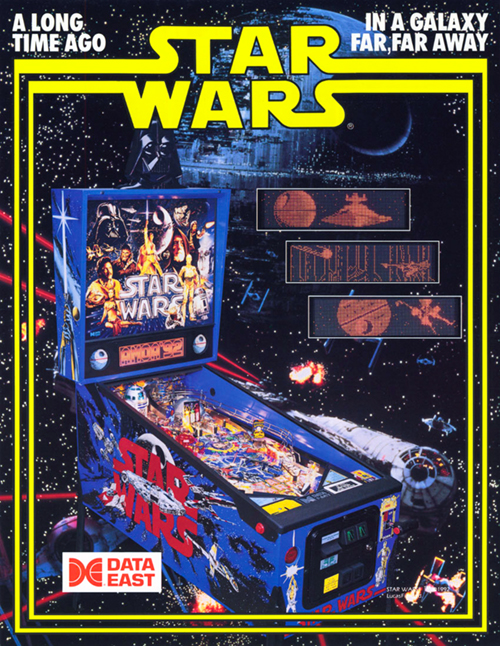 Star Wars (pinball) — 1992 at Barcade® | arcade game flyer graphic