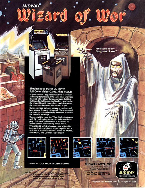 Wizard Of Wor — 1981 at Barcade® | arcade game flyer graphic