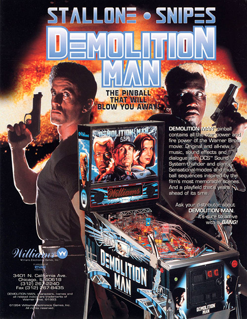Demolition Man (pinball) — 1994 at Barcade®