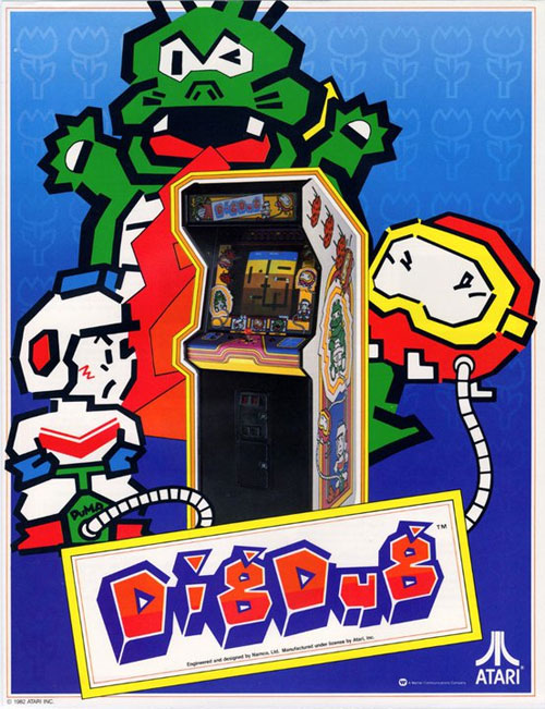 Dig Dug — 1982 at Barcade® | game flyer graphic