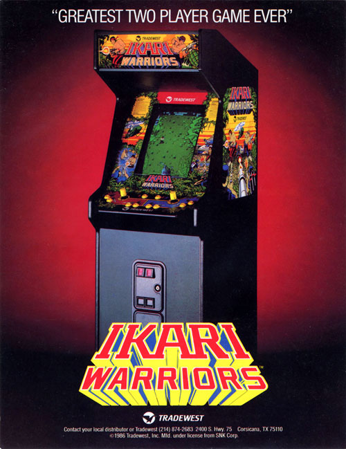 Ikari Warriors — 1986 at Barcade® | arcade game flyer graphic