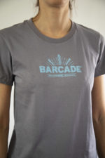 Barcade® Brooklyn - Women's grey T-Shirt with light blue Logo