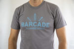 Barcade® Brooklyn - Men's grey T-Shirt with light blue Logo