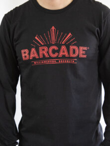 Barcade® Brooklyn - Black Long Sleeve Shirt with Red Logo